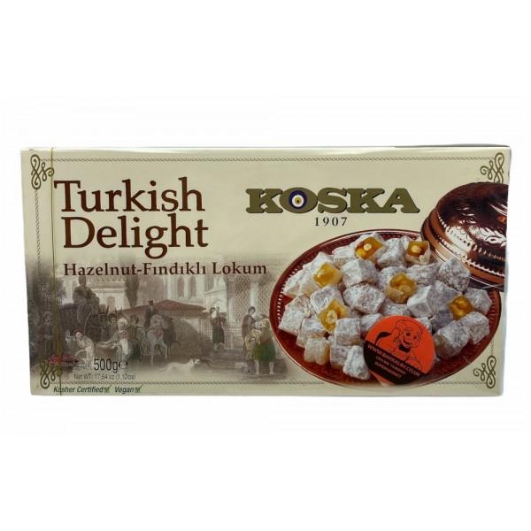 Koska Turkish Delight With Hazelnut 500g