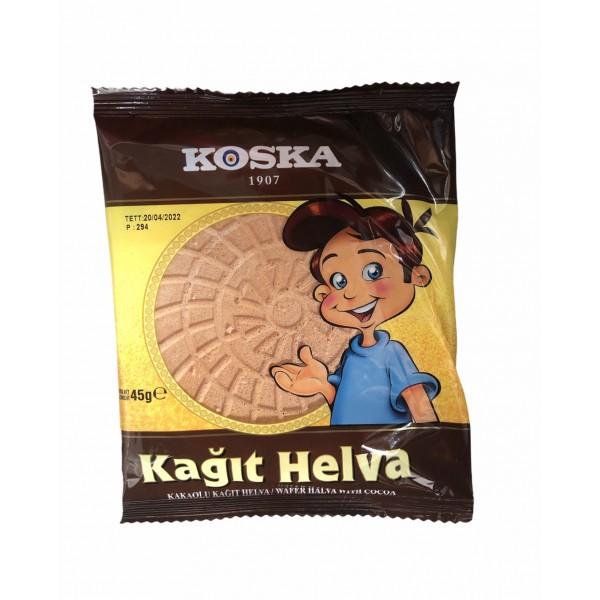 Koska Wafer Halva With Cocoa 45g