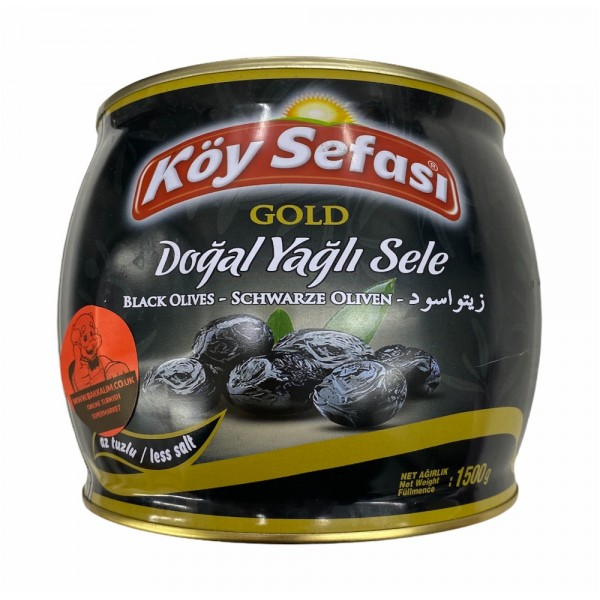 Koy Sefasi Black Olives Net Weight 1500g