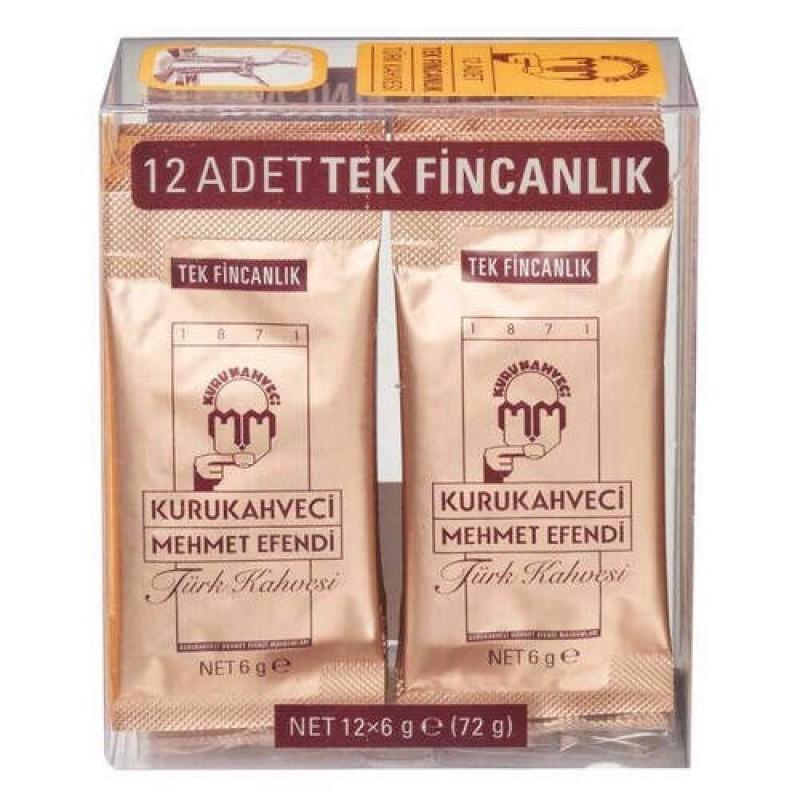 Kurukahveci Mehmetefendi Turkish Coffee 12x6g