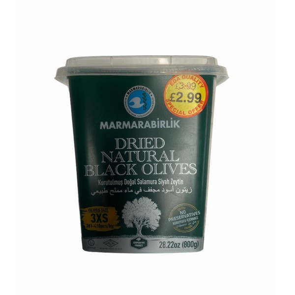 Marmarabirlik Dried Natural Black Olives 800g