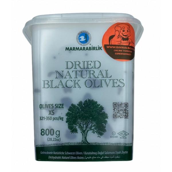 Marmarabirlik Dried Naturel Black Olives 800g