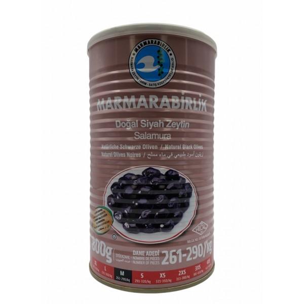 Marmarabirlik M Natural Black Olives 800g