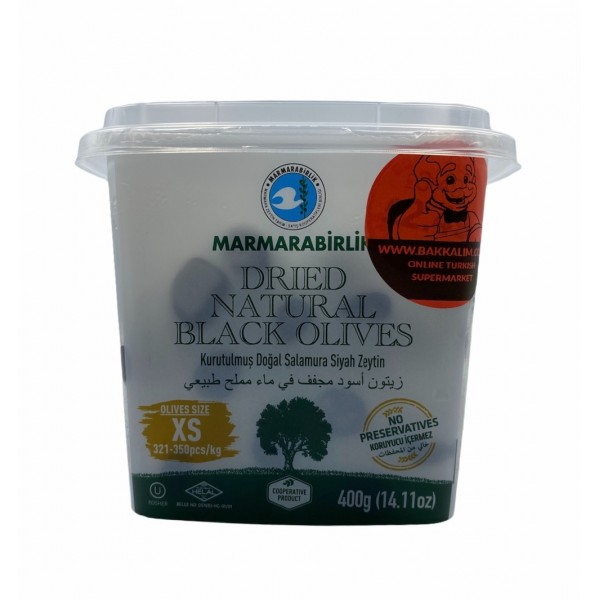 Marmarabirlik Xs Dried Black Natural Olives 400g