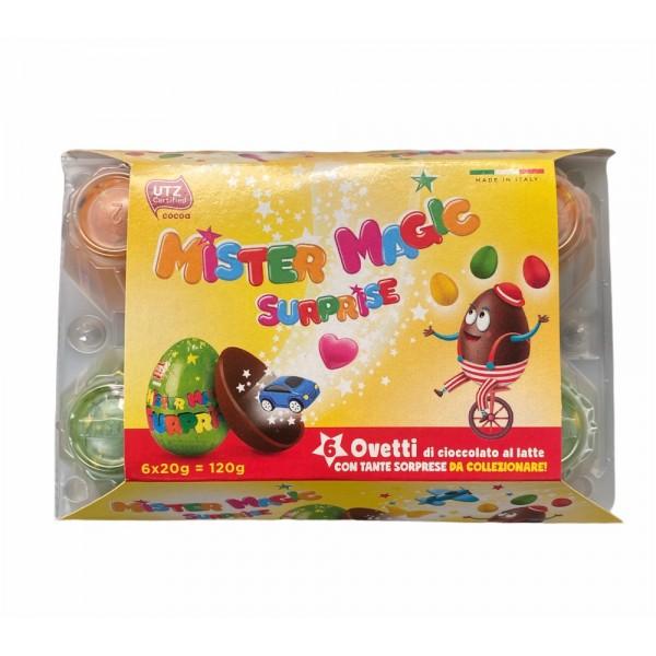 Mister Magic Suprise Chocolate Egg 6pcs 120g
