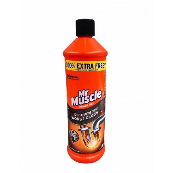 MrMuscle Drain Gel Destroys The Worst Clogs 1000ml