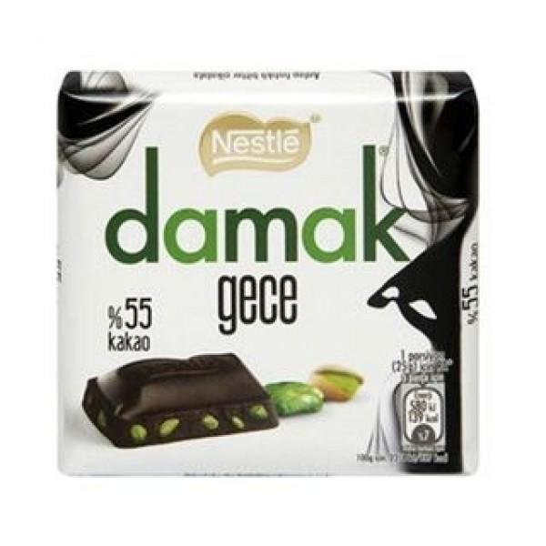Nestle Damak Night Dark Chocolate With Pistachio 63g
