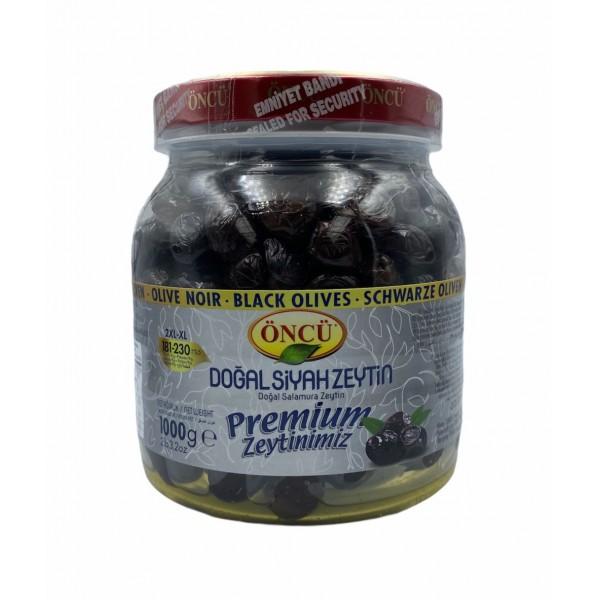 Oncu Premium Naturel Black Olives 1000g