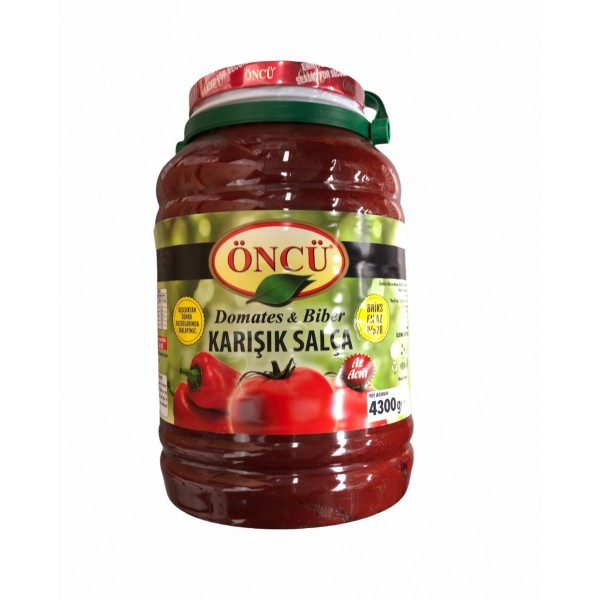 Oncu Tomatoes And Pepper Mix Paste Mild Spice 4300g