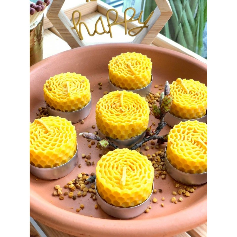 Organic Honey Candle 3cm 1pc