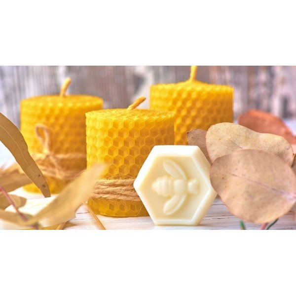 Organic Honey Candle 5cm