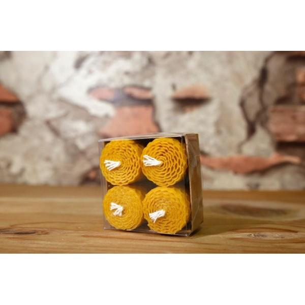 Organic Honey Candle Set 3cm X 4