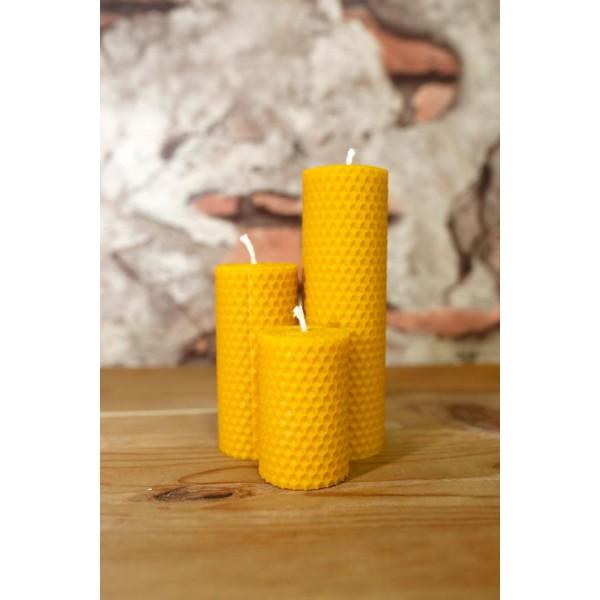 Organic Honey Candle Set 5cm-7cm-10cm