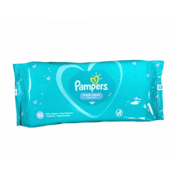 Pampers Fresh Clean Baby Scent 52pcs