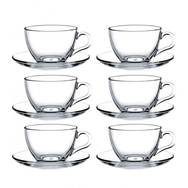 Pasabahce Basic Cups With Saucers 12pcs Set