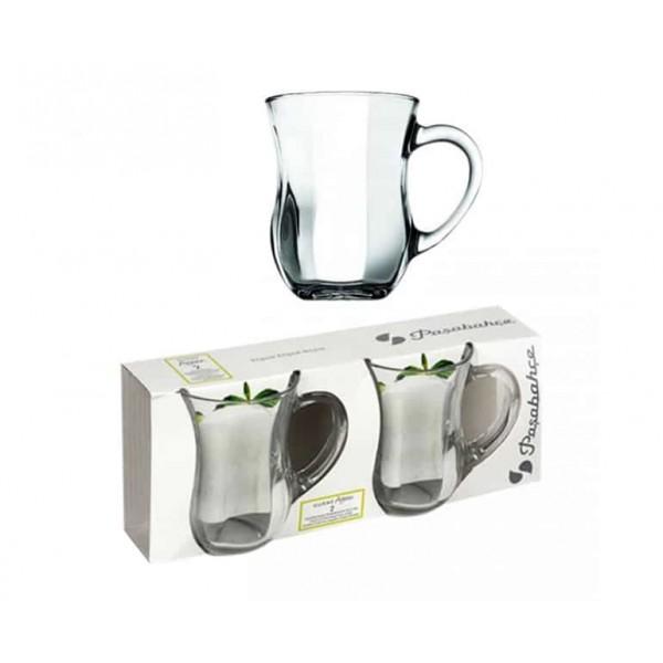 Pasabahce Handled Mug 2 Pcs