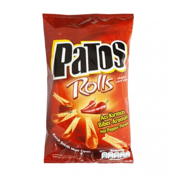 Patos Tortilla Chips With Hot Pepper Flavour