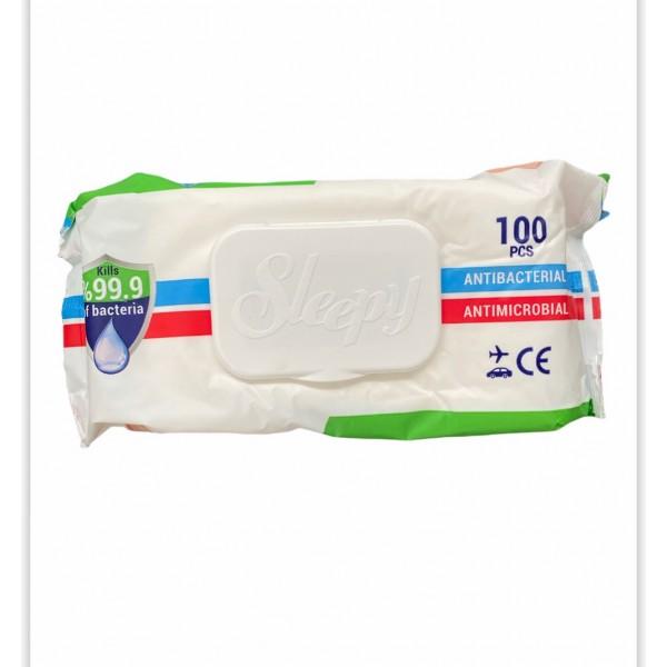 Sleepy Antibacterial Wipes 100pcs