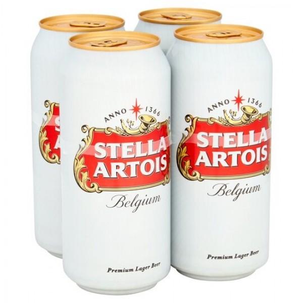 Stella Artois Belgium Premium Lager Beer 4 Pack 440ml X4