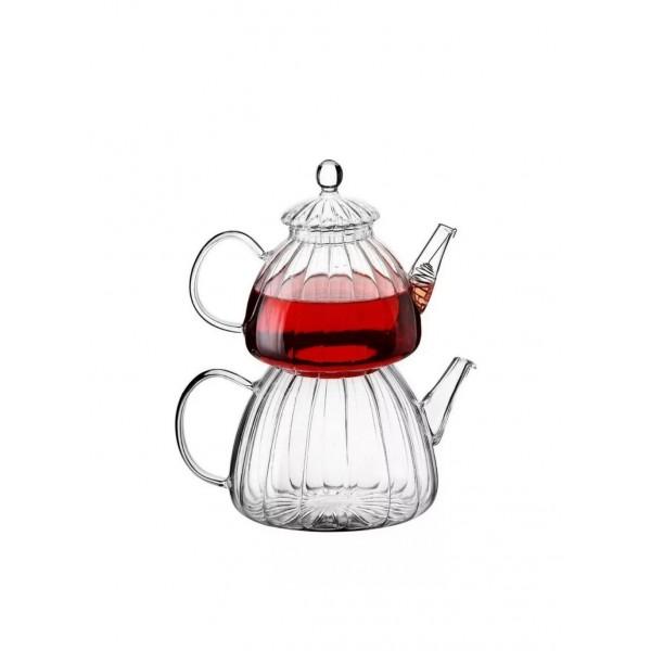 Tekbir Teapot Borosilicate Glass 600ml And 1200ml