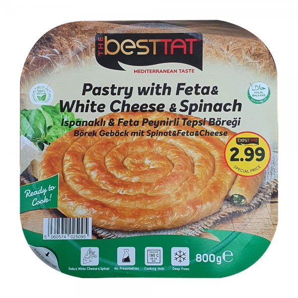 The Besttat Pastry With Feta And White Cheese And Spinach 800g