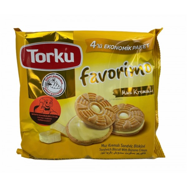 Torku Sandwich Biscuit With Banana Cream 272gr