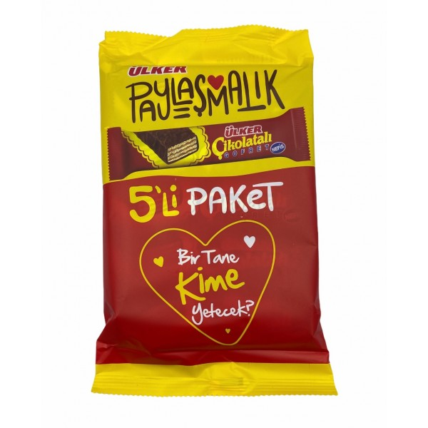 Ulker Chocolate Wafer 5-Packed
