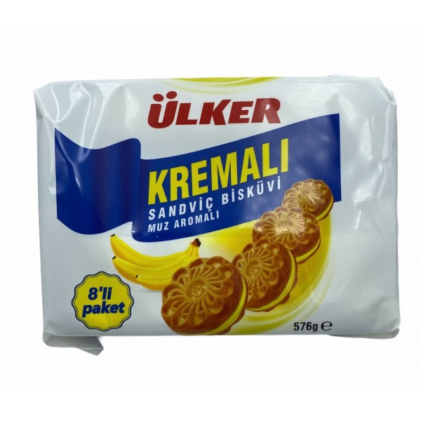 Ulker Cream Banana Biscuit 576gr