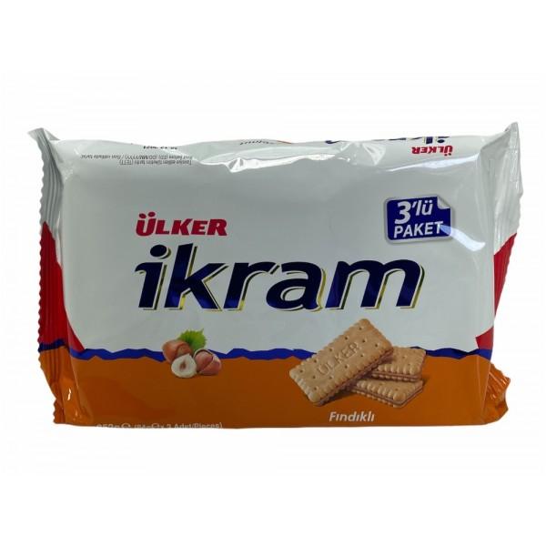 Ulker Ikram Biscuits With Hazelnut Cream 3x84g