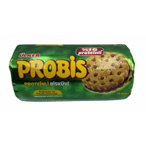Ulker Probis Cocoa And Banana Cream Protein Biscuits 280 Gr