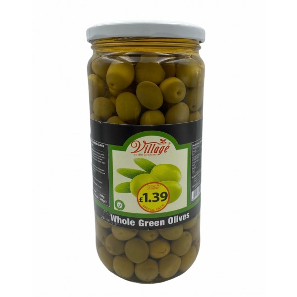 Village Whole Green Olives 700g