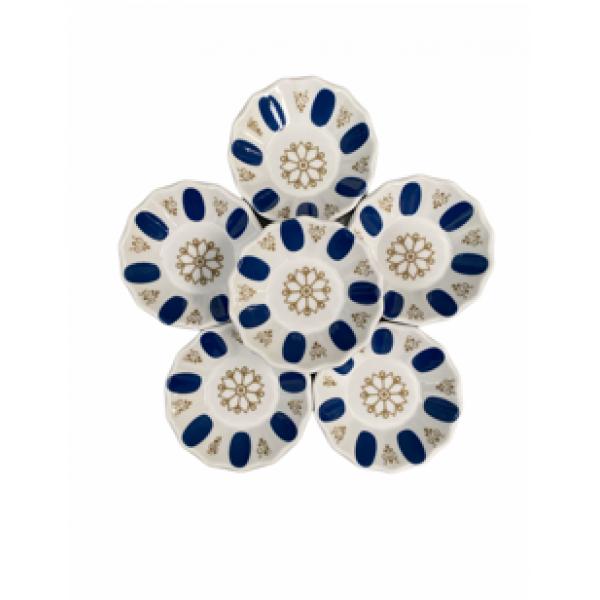 White And Blue Coaster 6pcs