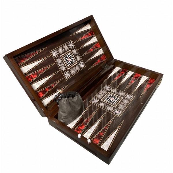 Wooden Antic Backgammon Set