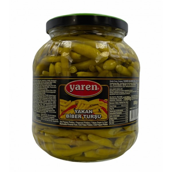 Yaren Pepper Pickles Net  Weight 1600g Drained Weight 800g