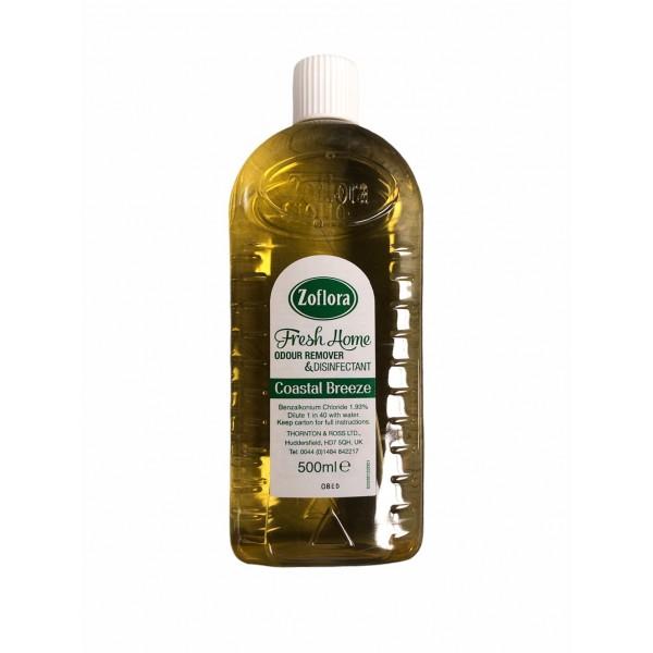 Zoflora Fresh Home Odour Eliminator And Disinfectant Coastal Breeze 500ml