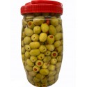 Bagci Green Olives Stuffed With Red Pepers 2.5kg