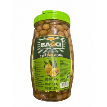 Bagci Green Scratched Olives 2.5kg