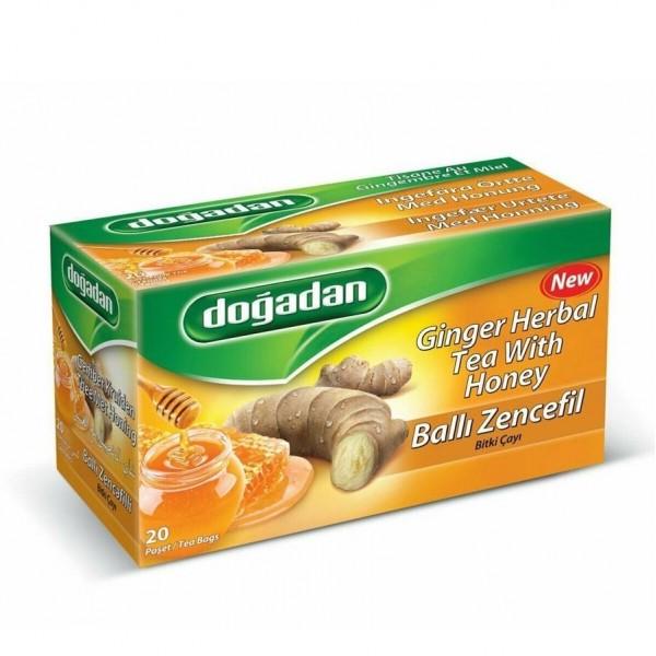 Dogadan Ginger Herbal Tea With Honey 20 Bags