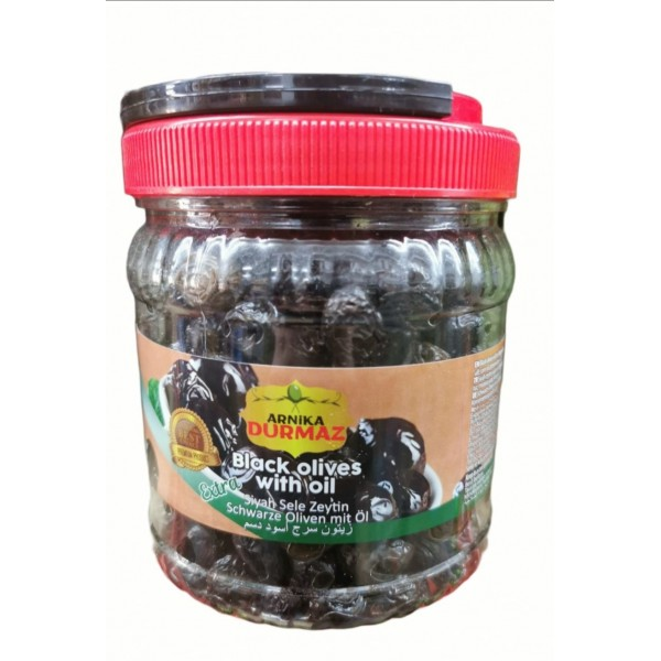 Durmaz Black Olives With Oil 700g