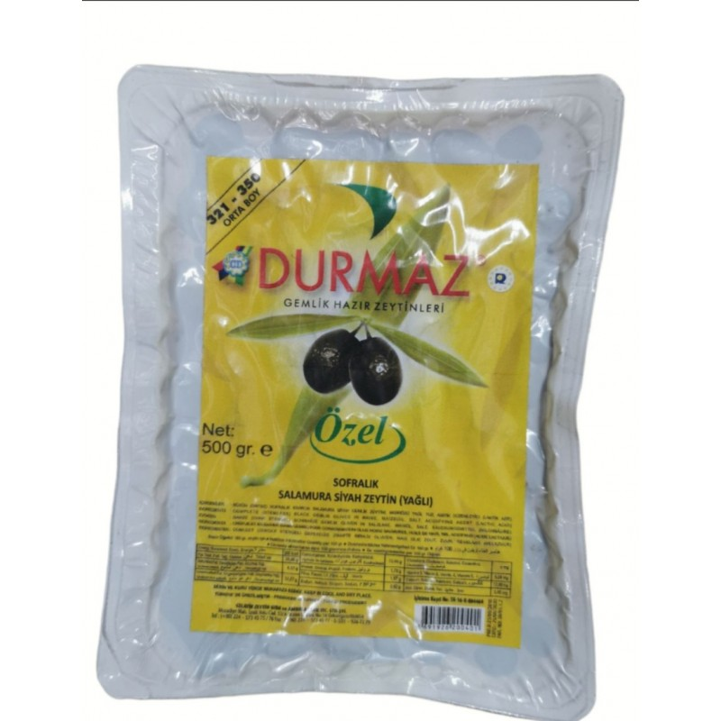 Durmaz Gemlik Oily Black Olives 500g