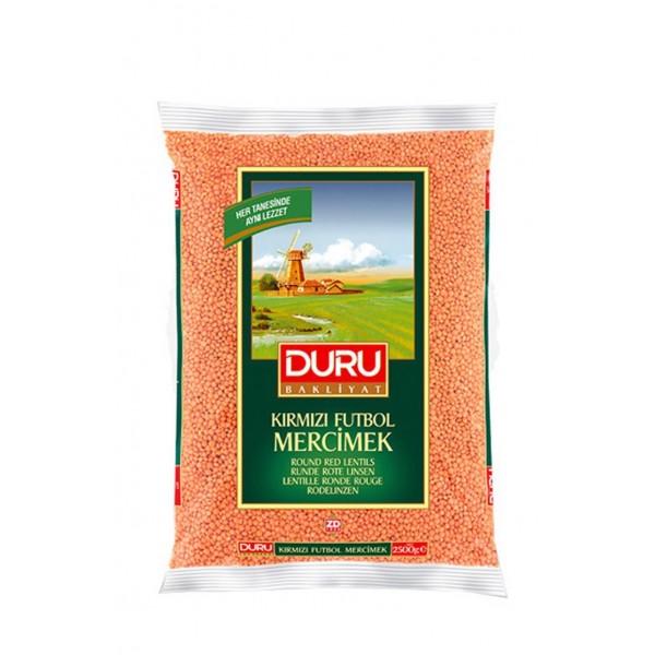 Duru Round Red Lentils 2500g
