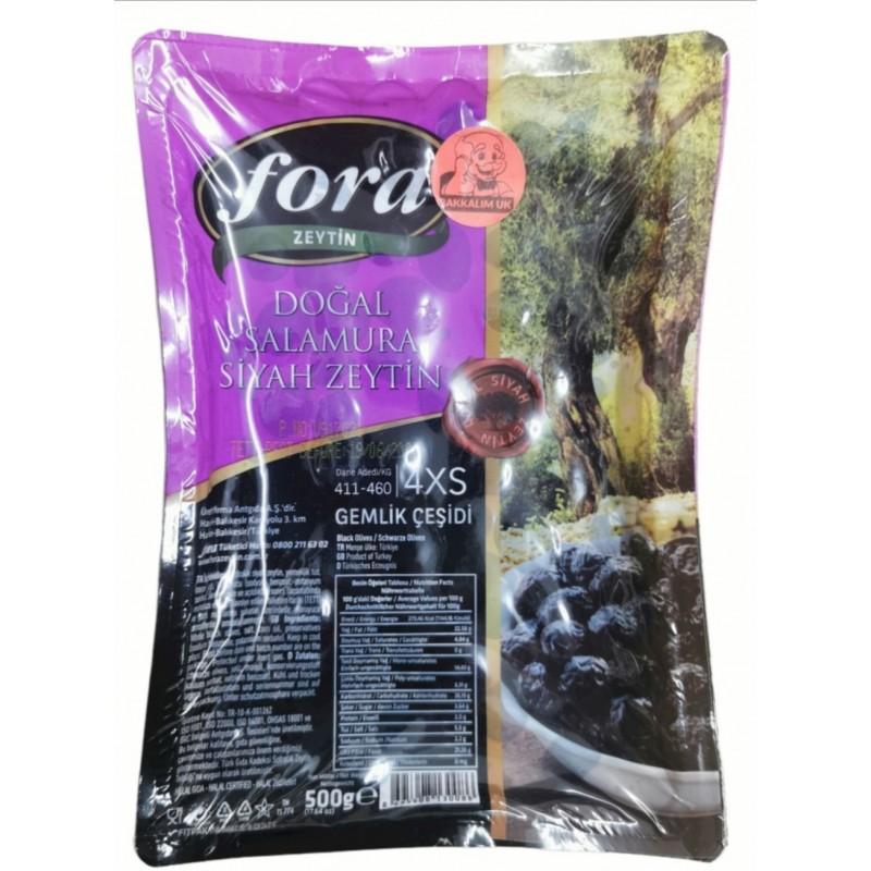Fora Natural Black Olives 500g