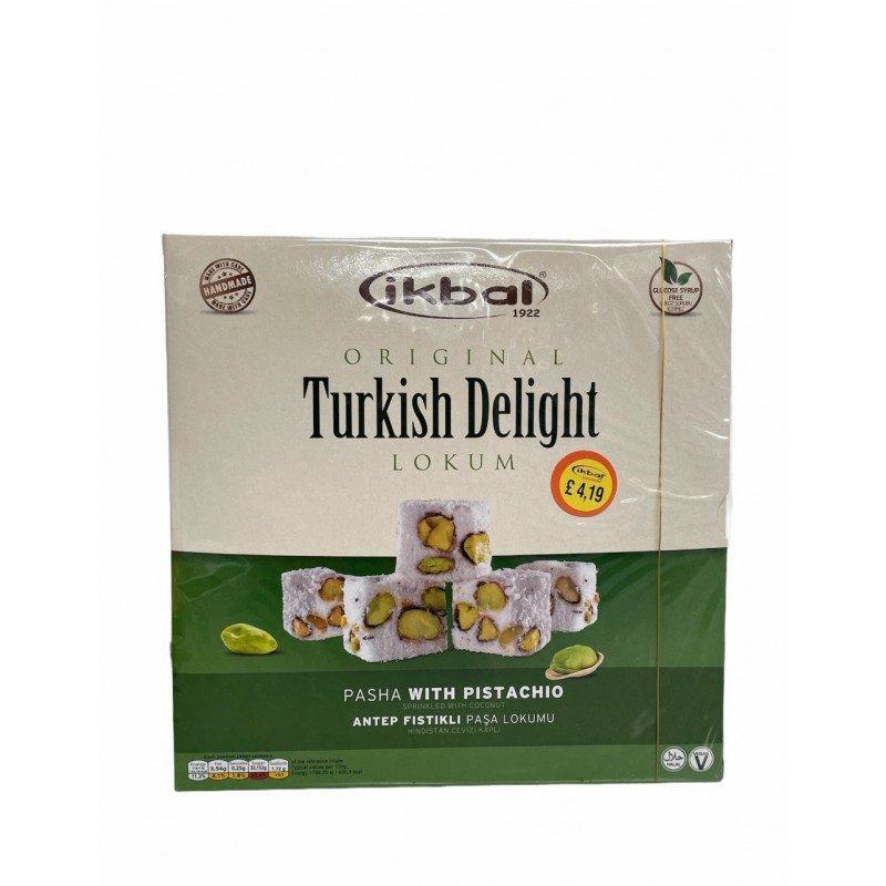 Ikbal Turkish Delight Pasha With Pistachio 350g