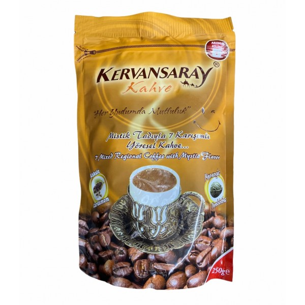 Kervansaray 7 Mixed Regional Coffee With Cardamom And Terebinth Flavoured 250g
