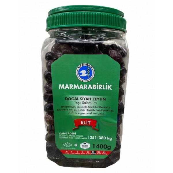 Marmarabirlik Natural Black Olives With Oil 1400g