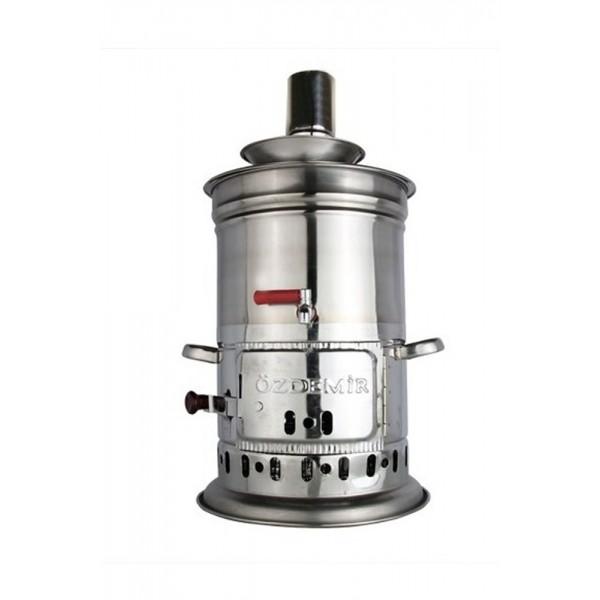 Samovar Stainless Steel Teakettle Water Heater Firewood Camping 4,5 Lt