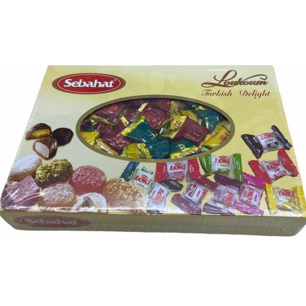 Sebahat Turkish Delight Mixed Flavoured Mini Packs 2500gr