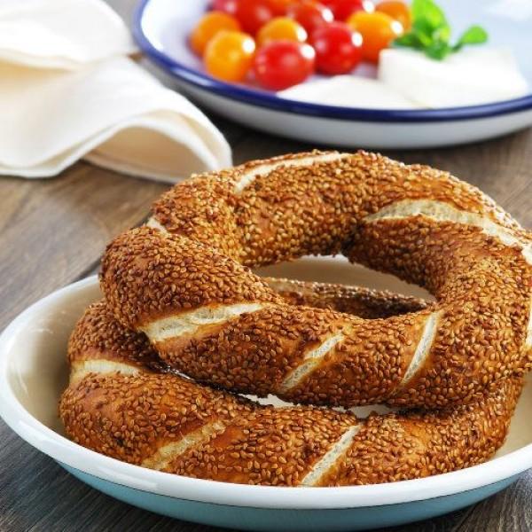 Maun 5x Turkish Sesame Ring Simit - Plain Bagel 550g