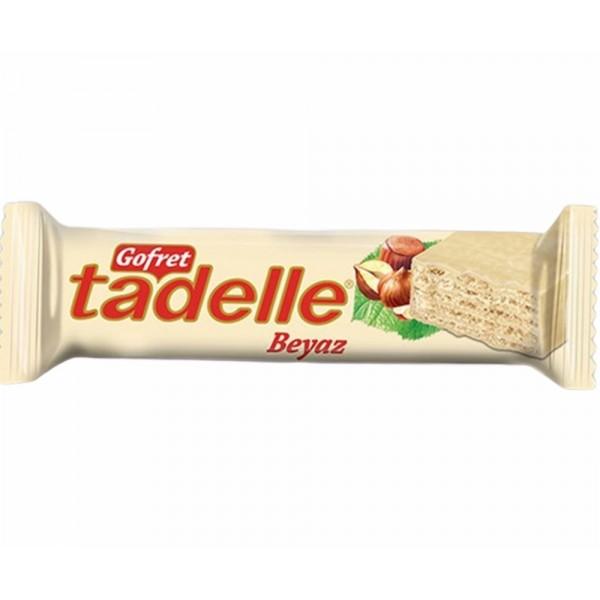 Tadelle Hazelnut Cream Wafer Covered With White Chocolate