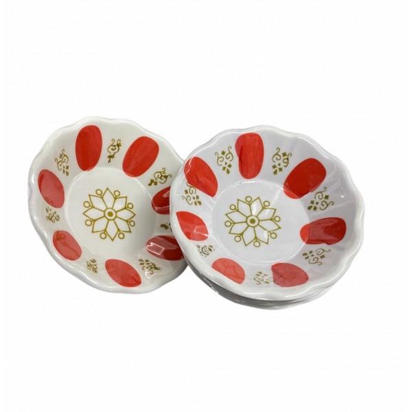 Turkish Tea Cup Coaster Red X6